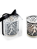Bridesmaids / Bachelorette - Recipient Gifts - Black Glass Tealight Holder Wedding décor, Candle Holder Wedding Favors