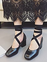Women's Heels Spring / Summer / Fall Heels PU Casual Chunky Heel Others Black / Red Others