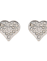 Cremation Jewelry The Korean Version of The Sweet Peach Studded Drill Zinc Alloy Earrings