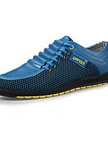 Синий / Коричневый / Белый / Черный и белый-Мужской-На каждый день-Тюль / Дерматин-На плоской подошве-Удобная обувь-Кеды