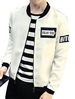 Autumn men's Jacket Large Size casual jacket letter printing jacket men's fall jacket black and white color surge