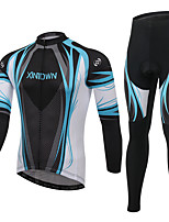 Men's Cycling Clothing Sets Fashion Create a God Styles Pattern Bicycle Sports Comfortable Long  Cycling Jersey 1 Set