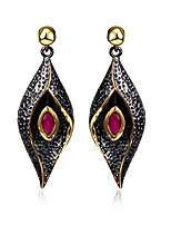 Earring Oval / Evil Eye Drop Earrings Jewelry Women Fashion Wedding / Party / Daily / Casual Cubic Zirconia / Copper 1pc Black / Coppery