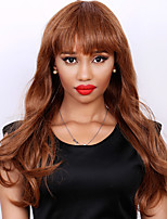 Fluffy Wave Long Real Natural Hair Attractive Full Bang Capless Hair Wig For Women