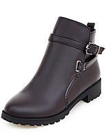 Women's Boots Fall / Winter Fashion Boots / Combat Boots / Round Toe Office & Career / Dress / Casual Platform Buckle