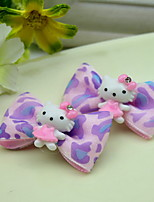 Flower Girl's Bow HelloKT Fabric Random Color Hair Clip