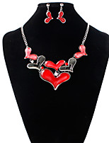 Alloy Bridal Jewelry Sets Silver Necklaces Earrings Wedding/Party 1 pair