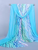 Women's Chiffon Zebra-Stripe Print ScarfBlue/Green/Watermelon/Orange