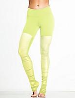 Yoga Pants Breathable /Natural Stretchy Wear Yellow / Pink / Black / Blue / Purple / Light purple Unisex Sports Yoga