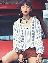 Aporia.As® Damen V-Ausschnitt Lange Ärmel Shirt & Bluse Multi-MZ10028
