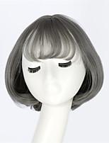 mcoser Japon et paragraphe bang air perruque Yurisa mode de corée du sud au quotidien harajuku lolita gris cos perruque