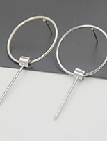 Earring Circle Drop Earrings Jewelry Women Fashion Daily / Casual Alloy 1pc Gold / Silver
