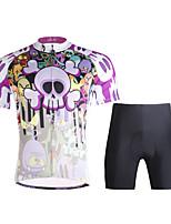 PALADIN Bicicleta/Ciclismo Sets de Prendas/Trajes Hombres Mangas cortasTranspirable / Resistente a los UV / Secado rápido / Compresión /