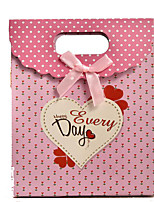 Bow Pink Love Gift Bags Gluing Velcro Boutique Gift Bag Wholesale Spot A Pack Of Five