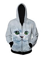 3D  Hoodie Long Sleeve Cat Printing Clothing