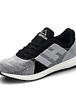 Men's Sneakers Spring / Fall Comfort Fabric Casual Flat Heel  Black / White / Royal Blue Walking