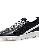 Da uomo-Sneakers-Tempo libero / Casual / Sportivo-Comoda-Piatto-Tulle-Nero / Argento / Dorato