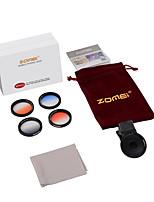 zomei® m4 gc-gris + gc-bule + gc-orange + gc-rouge pince iphone lense pour iphone / caméra smartphone Android