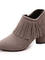 Damen-Stiefel-Outddor / Büro / Kleid / Lässig / Party & Festivität-Lackleder / Kunstleder-Blockabsatz-Absätze / Plateau / Modische