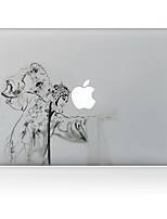 1 pièce Anti-Rayures En Plastique Transparent Décalcomanie Motif PourMacBook Pro 15 '' avec Retina / MacBook Pro 15 '' / MacBook Pro 13
