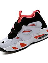 Da donna-Sneakers-Sportivo-Punta arrotondata-Piatto-PU (Poliuretano)-Arancione / Nero e bianco