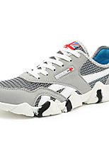 Черный / Синий / Красный / Серый-Мужской-На каждый день-Тюль / Полиуретан-На плоской подошве-Удобная обувь-Кеды