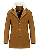 2016 new autumn and winter coat male Korean cultivating in the long woolen coat young men's coat tide