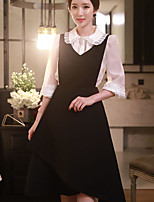 Women's Going out / Casual/Daily / Work Vintage / Cute / Sophisticated A Line Dress,Solid Strap Above Knee Sleeveless