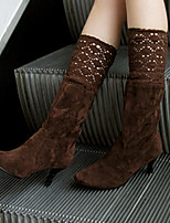 Women's Boots Spring / Fall / Winter Fashion Boots / Round Toe Leatherette Outdoor /  Casual Stiletto Heel