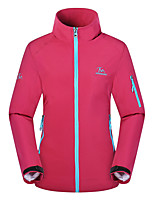 Outdoor Women's Softshell Jacket Camping & Hiking Waterproof / Quick Dry / Windproof / Sunscreen / Thermal / Warm
