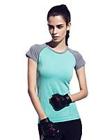 Running T-shirt / Sweatshirt Women's Short Sleeve Breathable / Quick Dry / Reflective Strips / Sweat-wicking