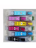 для Epson R330, принтер t0851 многоразового использования картриджа с чернилами с чипом, пачка из шести (Бк / г / г / б / светло-красный,