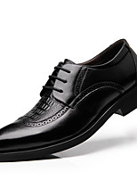 Men's Flats Spring / Fall / Winter Pointed Toe Leather Office & Career / Casual Flat