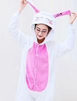 Kigurumi Pyjamas Collant/Combinaison Halloween Pyjamas animale Blanc Géométrique Polyester Kigurumi Unisexe Halloween / Noël / Carnaval