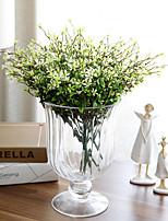 1 1 Филиал Полиэстер / Пластик Pастений Букеты на стол Искусственные Цветы 13.3inch/34cm