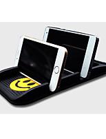 Automobile Anti Slip Mat Dual Card Slot Vehicle Mounted Mobile Phone Support Vehicle Storage Box