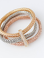 Wrap Bracelets 1set,Golden / Rose / Silver Bracelet Fashionable Circle 514 Alloy Jewellery