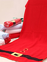 4pcs Merry Red Christmas Towel Snowflake Tree Microfiber Bath Shower Towel Home Party Supplies