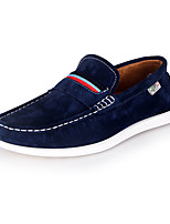 Heren Loafers & Slip-Ons Lente / Herfst Ronde neus / Platte schoenen Suède Kantoor & Werk / Informeel Platte hak OverigeBlauw / Bruin /