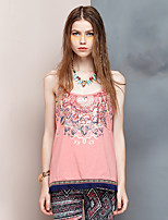 Heart Soul® Women's Strap Sleeveless T Shirt Coral-24AD24575