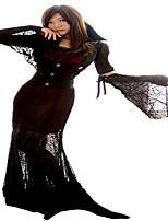 Costumes Sorcier Halloween Noir / Rouge & noir Lace N/C Jupe