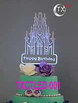 Cake Topper Non-personalized Ethnic & Interracial Acrylic Birthday Flowers Black Classic Theme 1 Gift Box