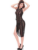 Women Chemises & Gowns Nightwear,Sexy / Lace Jacquard-Medium Lace Gray / Black Women's