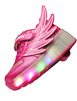 LED Light Up Shoes,Boy's and girl wing Spring / Summer / Fall / Winter Novelty PU Casual Flat Heel Lace-up