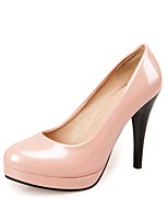 Women's Heels Summer / Round Toe Patent Leather Office & Career / Casual Stiletto Heel Others Black / Pink / Almond