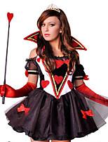 Costumes Ange et Diable / Esprit / Zombie / Vampire Halloween / Noël / Carnaval Rouge / Noir Vintage Térylène Robe
