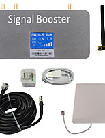 LCD Display DCS 1800MHz Mobile Phone Signal Booster with Whip and Panel Antenna Kit Grey