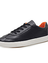 Men's Flats Spring / Fall Comfort / Round Toe Microfibre Casual Flat Heel Lace-up Black / Blue / White Walking