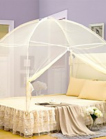 Mosquito Net  Mongolian Yurt Polyester For Twin / Full / Queen / King Bed Pink Blue Yellow White