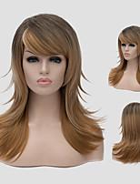 marrone sfumato bianco e il Nuovo Daily parrucca di capelli lunghi moda gradiente parrucche sintetiche